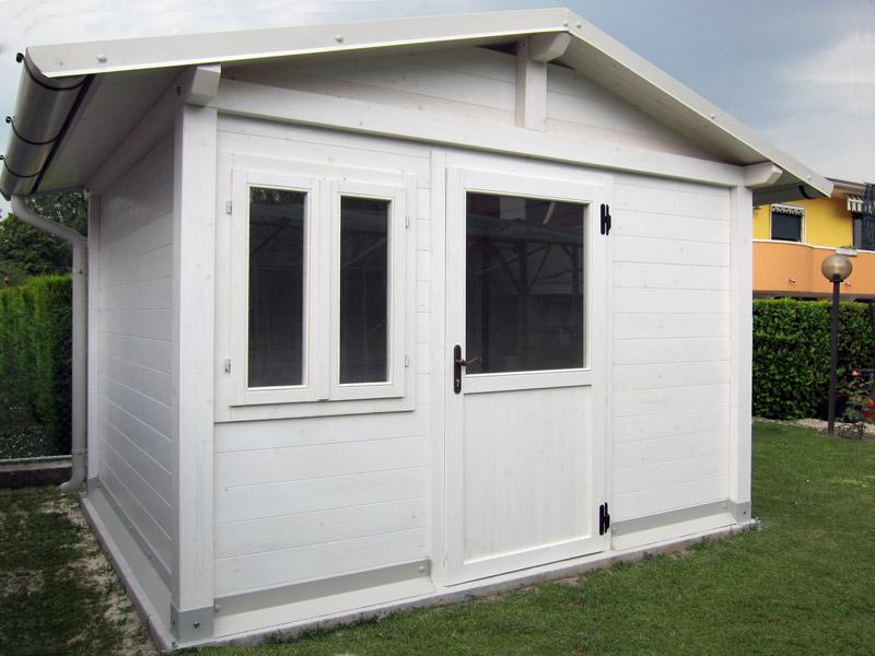 Grande casetta per giardino c2215 - Casetta in legno da giardino bianca ...