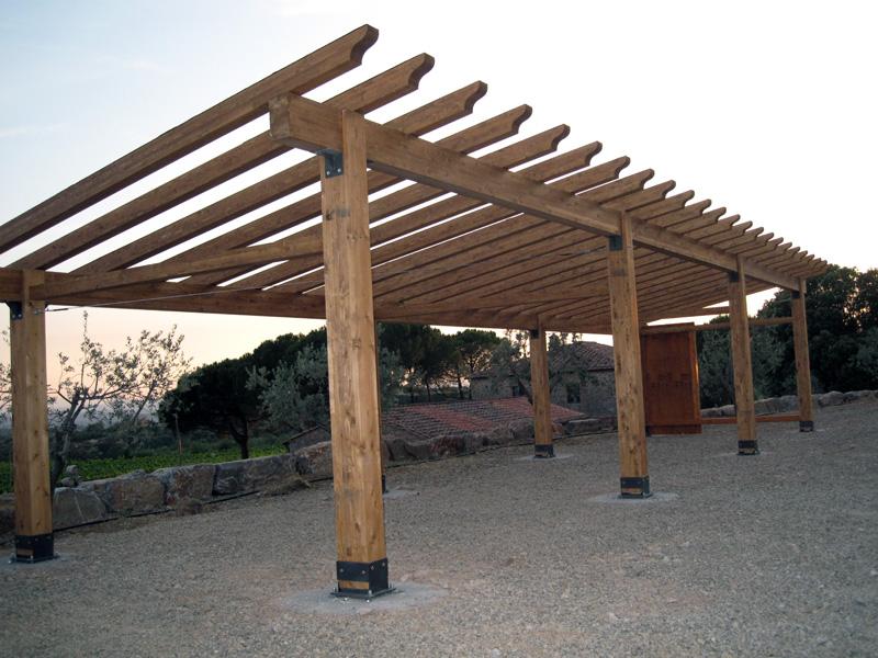Pensiline fotovoltaiche in legno PC30110