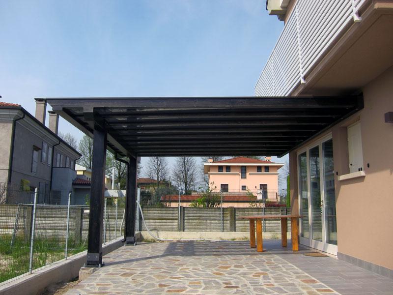 Tettoia pergolato in legno polyclassic clp207 for Tettoia inclinata del tetto