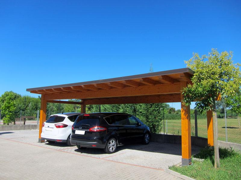Carport di legno per tre auto c03210 - Carport foto ...