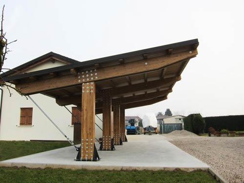 Tettoie in legno per auto carport autocover for Tettoie per auto usate