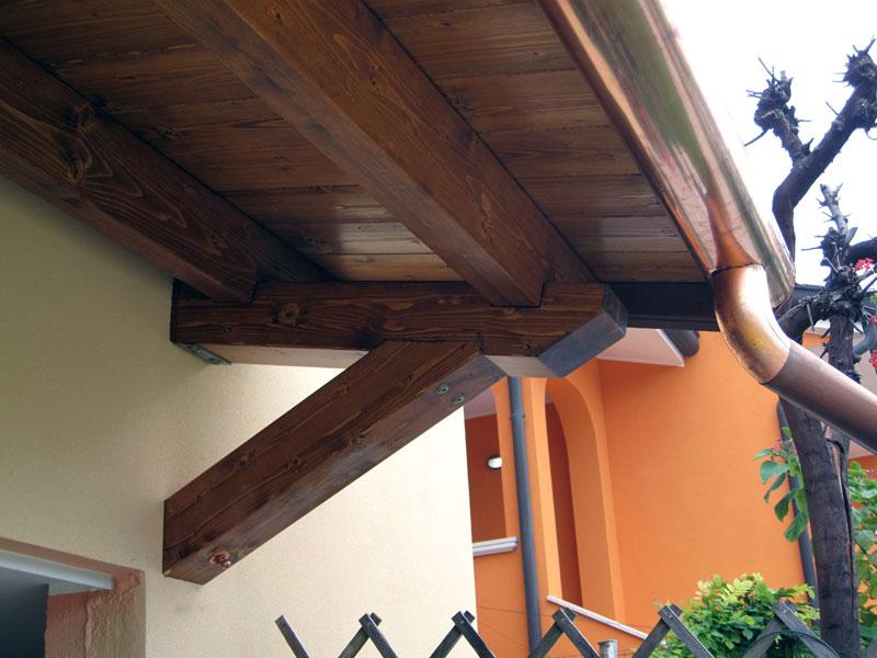 Piccola pensilina in legno lamellare ppc410 for Piccola casetta in legno