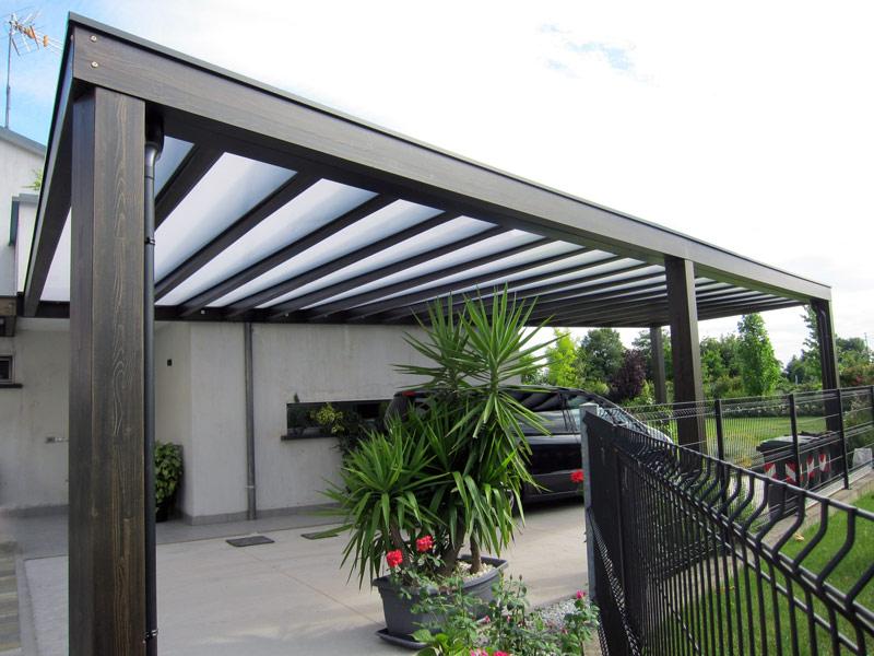 Pergolato a copertura in policarbonato polycube cup112 for Immagini di tettoie in legno