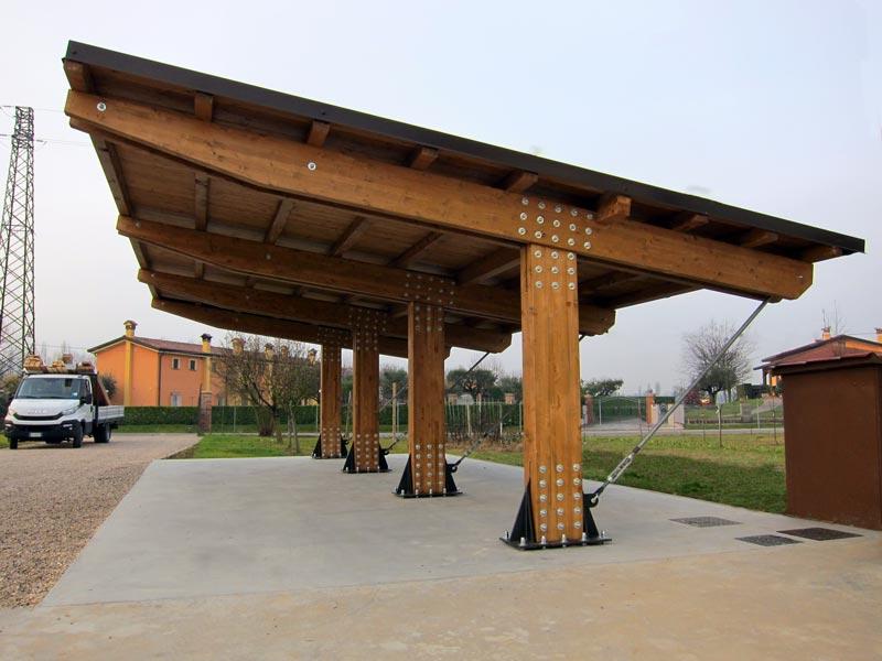 Autocover di legno lamellare modello elite e03110 for Immagini di tettoie in legno
