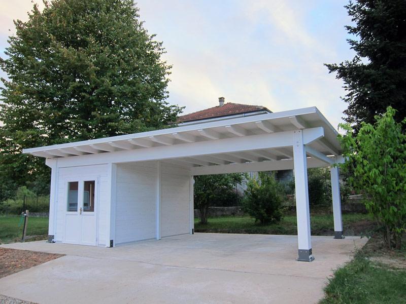 Foto carport in legno cb02105 for Ampio garage per auto