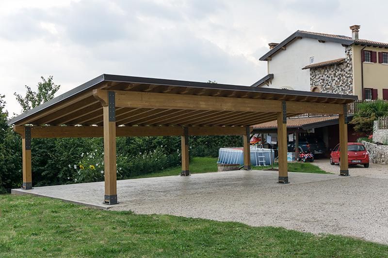 Autorimessa in legno c04210 for Carport 2 posti