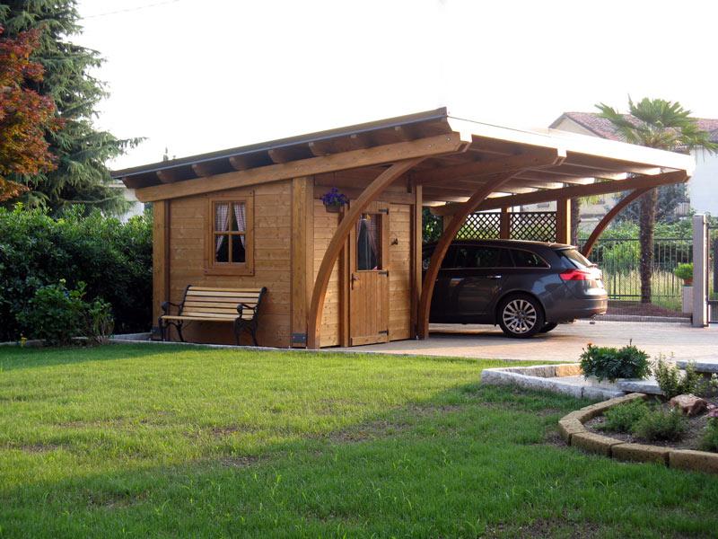 Tettoia in legno lamellare round rb02110 for Immagini di tettoie in legno